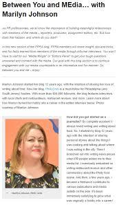 Marilyn Johnson featured on the Philadelphia Public Relations Association  Blog - Philly Grub