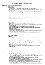 Custodial Worker Resume Custodial Worker Resume Samples Velvet Jobs 1