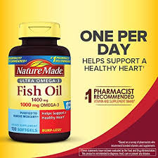 Nature Made Ultra Omega-3 Burpless Fish Oil 1400 ... - Amazon.com