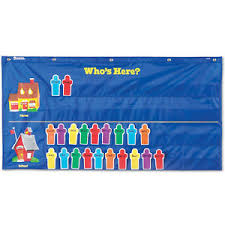 Whos Here Today Chart Details About Learning Resources Whos Here Nylon School Attendance Pocket Classroom Chart