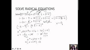 23 solve radical equations and equations with rational exponents 1 6
