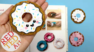 easy diy donuts bookmark diy paper crafts red ted art