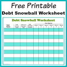 Free Printable Debt Payoff Worksheet Room Surf Com