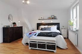 Apartment:Relaxing Small Loft Bedroom With White Color Paint Idea Also  Damask Wallpaper Cozy Small