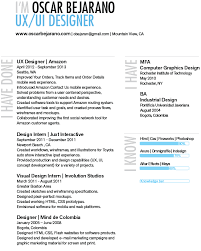 Ux Designer Resume 15 14 About Oscar Bejarano Ui