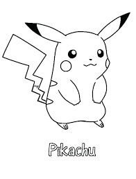 pikachu colouring pages printable cute coloring to print color pictures of
