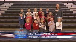 Pledge of Allegiance: Lambert's Kindergarten class - Ridgeview Elem.
