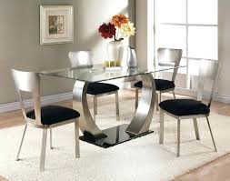 white glass dining table modern round glass table w white chairs with round glass dining room