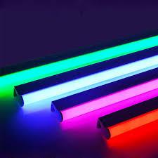 Led Color Tube Lights 2835smd T5 T8 Integrated Led Color Tube 0 3m 0 6m Led Red Green Blue Pink Purple Tube For Fresh Food Ac100 265v