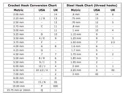 crochet hook size chart crochet hook sizes chart crochet hook size conversion