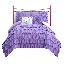 bedroom sets for girls purple. Fine Sets Black And Purple Bedroom Set Girls Ruffle Bedding  Comforter Sets  Throughout Bedroom Sets For Girls Purple I