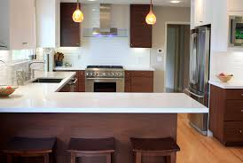 Latitude Tile And Decor Furniture Impressive Kitchen With Brown Wood Bellmont Cabinets And 45
