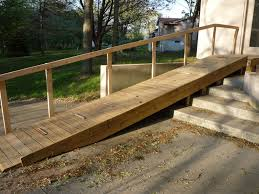 image result for how to build a handicap ramp over stairs