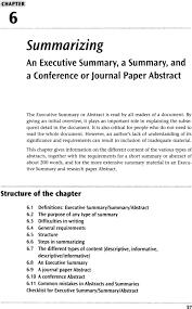 Executive Summary Summarizing An Executive Summary A Summary And A