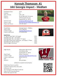 Softball Player Profile Template Soccer Player Profiles Template Tirevi Fontanacountryinn Com
