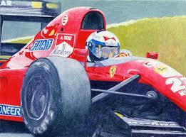 steve greaves ferrari formula 1 f1 racing car sport painting detail