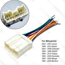 aliexpress com buy car radio stereo wiring harness adapter for car radio stereo wiring harness adapter for mitsubishi lancer galant outlander 3000gt