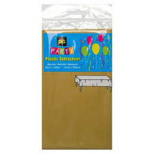 plastic gold table cover 108