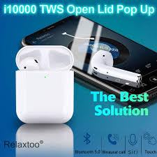 I10000 <b>TWS Bluetooth Earphone Wireless</b> Charging Headset Touch ...