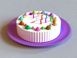 Happy Birthday Cake 3d Model 3ds Max Files Free Download Modeling