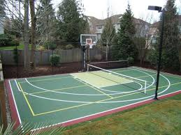 Backyard Basketball Half Court Cost  Home Outdoor DecorationBackyard Tennis Court Cost