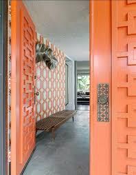 modern front door orange. Mid Modern Front Door Orange L