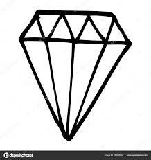 Kreslení čar Kreslených Tetování Diamant Stock Vektor