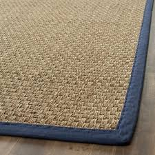 hand woven sisal natural blue seagrass rug 8 x 10 rugs houzz outdoor sisal rug