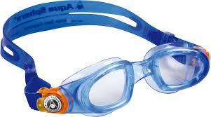<b>Aqua</b> Sphere <b>Moby Kid</b> Goggles: Blue/Orange with Clear Lens ...