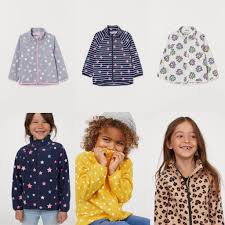 Áo khoác nhẹ không nón bé gái 1-14 tuổi HM xuất dư xịn, nỉ 2 mặt, mỏng nhẹ,  cách nhiệt chính hãng