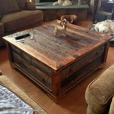 Great Reclaimed Wood Square Coffee Table Rustic Square Coffee - Storage  square coffee table