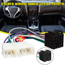 worldwide delivery iso adapter toyota in adapter of nabara car iso radio wire cable harness connector plug 4 10pins for toyota aurion avalon avensis yaris camry celica corolla rav4