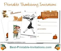 Thanksgiving Invites Printable Thanksgiving Invitations