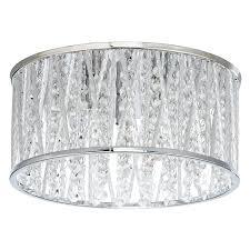 buy john lewis emilia crystal drum flush ceiling light  john lewis