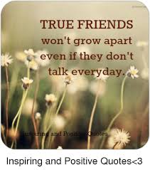 True Friends Quotes Amazing TRUE FRIENDS Won't Grow Apart R Even If They Don't Talk Everyday