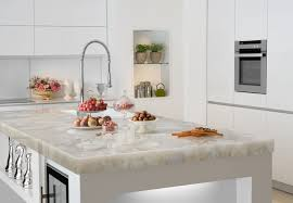 white stone kitchen countertops. Modren Stone White Quartz Countertop Contemporarykitchen In Stone Kitchen Countertops C