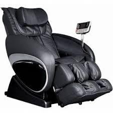 black leather massage chair. leather massage chair 1 black b
