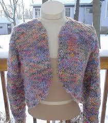 Free Shrug Knitting Patterns Extraordinary Knitting Free Knitting Pattern Allison Bolero Sweater