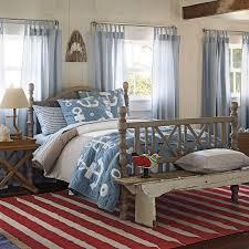 Shark Bedroom Decor Upscale Coastal Home Bedroom Rustic Bench Red White Blue Shark