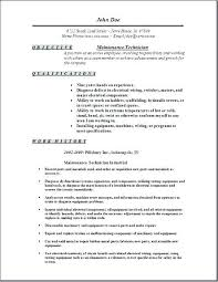 Mechanic Resume Example Technician Resume Sample Mechanic Resume