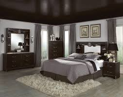 splendid dark walnut bedroom set with dark ceiling painted over master bed frame over white fur rugs as decorate in master dark bedroom designs ideas