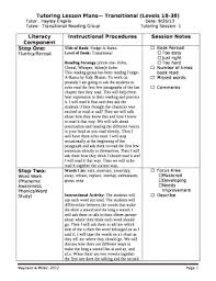 Literacy Component Doc Template Pdffiller