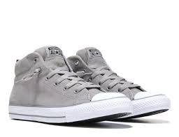 converse shoes new arrivals men converse chuck taylor all star street mid top leather sneaker grey