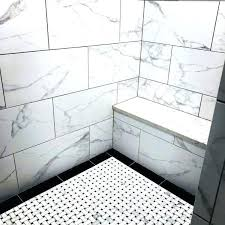 decoration pattern marble shower floor tile ideas mosaic black interesting bathroom and with pebble amusing picture