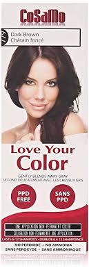 Love Your Color Cosamo Non Permanent Hair Color Dark Brown