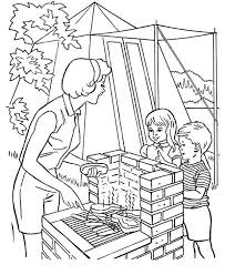 Small Picture Helping Mother Cooking at Camping Coloring Pagejpg 600734