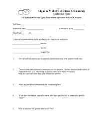 Scholarship Aplication Form 50 Free Scholarship Application Templates Forms