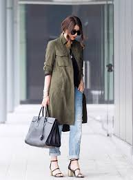 military fashion trend 2016 nicoletta reggio is wearing a zara army green military style coat