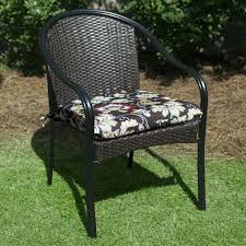striped patio chair cushions we started with rugged yet chic black resin frames inspired by their