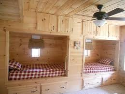 Twin beds built in the wall